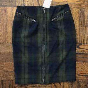 NWT H&M Navy/Dark Green Plaid Skirt